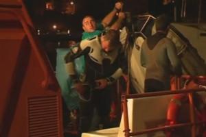 Actiune de recuperare yacht in rada Portului Tomis Constanta - Nemo Pro Diving 001