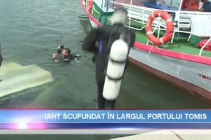 Actiune de recuperare yacht in rada Portului Tomis Constanta - Nemo Pro Diving 008