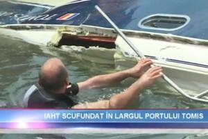 Actiune de recuperare yacht in rada Portului Tomis Constanta - Nemo Pro Diving 010