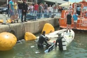 Actiune de recuperare yacht in rada Portului Tomis Constanta - Nemo Pro Diving 015