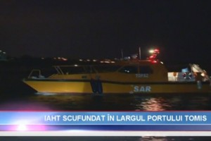 Actiune de recuperare yacht in rada Portului Tomis Constanta - Nemo Pro Diving 021