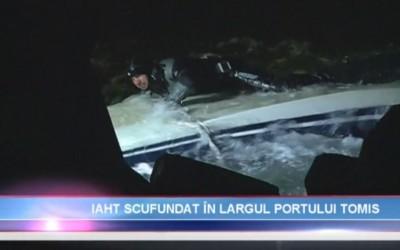 Actiune de recuperare yacht in rada Portului Tomis Constanta in iulie 2015, realizata de Nemo Pro Diving