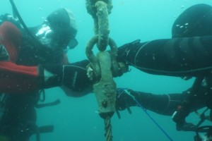 Lucrari mentenanta balize mai 2014 Constanta - Nemo Pro Diving 003