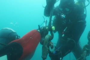 Lucrari mentenanta balize mai 2014 Constanta - Nemo Pro Diving 007