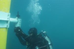 Lucrari mentenanta balize mai 2014 Constanta - Nemo Pro Diving 205