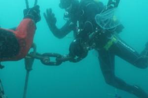 Lucrari mentenanta balize mai 2014 Constanta - Nemo Pro Diving 210