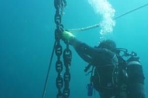 Montare balize INCD GeoEcoMar Constanta - Nemo Pro Diving 009