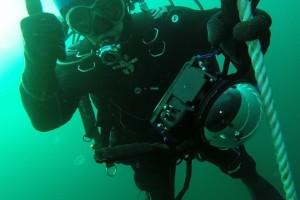Montare senzor balize cu nava Mare Nigrum in Marea Neagra - Nemo Pro Diving 002