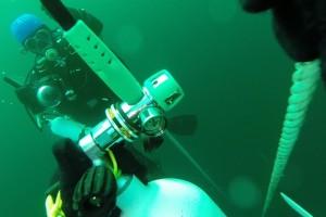 Montare senzor balize cu nava Mare Nigrum in Marea Neagra - Nemo Pro Diving 004