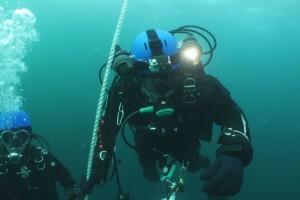 Montare senzor balize cu nava Mare Nigrum in Marea Neagra - Nemo Pro Diving 008
