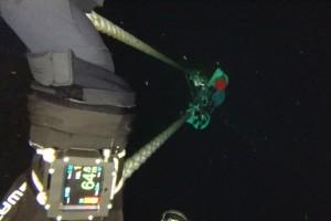 Montare senzor balize cu nava Mare Nigrum in Marea Neagra - Nemo Pro Diving 013