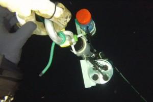 Montare senzor balize cu nava Mare Nigrum in Marea Neagra - Nemo Pro Diving 014