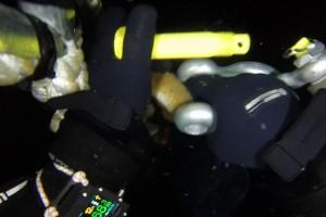 Montare senzor balize cu nava Mare Nigrum in Marea Neagra - Nemo Pro Diving 015