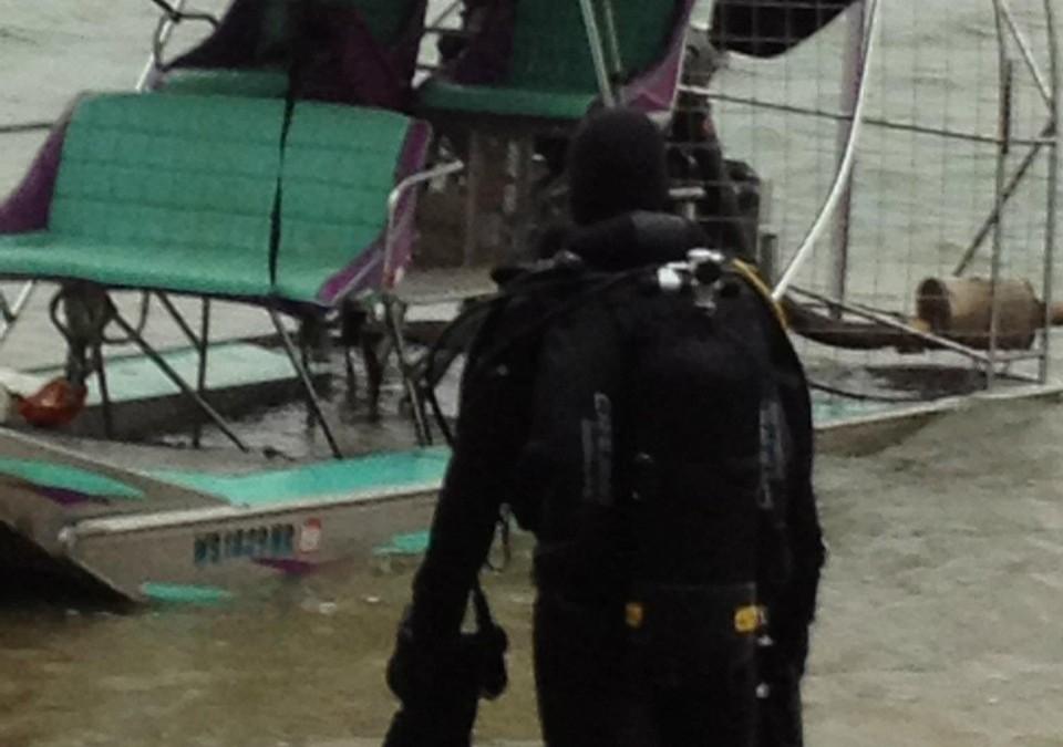 Recuperare ambarcatiune si ATV la Turnu Magurele realizata de Nemo Pro Diving
