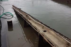 ramfulare barja pe canalul Dunare-Marea Neagra la Cochirleni - Nemo Pro Diving 002