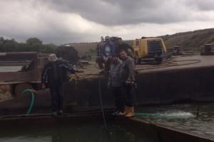 ramfulare barja pe canalul Dunare-Marea Neagra la Cochirleni - Nemo Pro Diving 011
