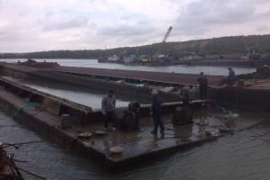 ramfulare barja pe canalul Dunare-Marea Neagra la Cochirleni - Nemo Pro Diving 012