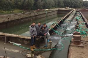 ramfulare barja pe canalul Dunare-Marea Neagra la Cochirleni - Nemo Pro Diving 202