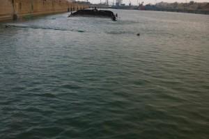 ramfulare barja pe canalul Dunare-Marea Neagra la Ovidiu - Nemo Pro Diving 001