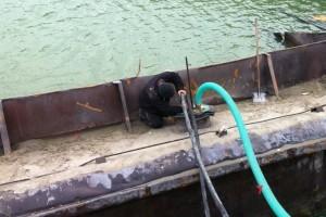 ramfulare barja pe canalul Dunare-Marea Neagra la Ovidiu - Nemo Pro Diving 004