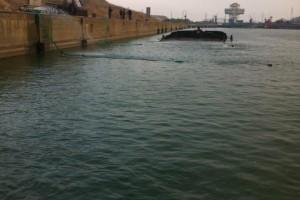ramfulare barja pe canalul Dunare-Marea Neagra la Ovidiu - Nemo Pro Diving 010