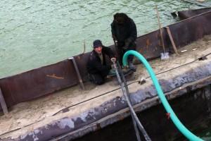 ramfulare barja pe canalul Dunare-Marea Neagra la Ovidiu - Nemo Pro Diving 011