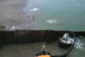 ramfulare barja pe canalul Dunare-Marea Neagra la Ovidiu - Nemo Pro Diving 012