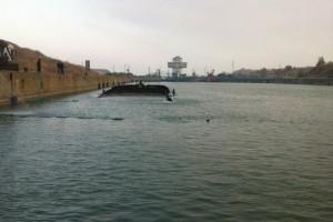 ramfulare barja pe canalul Dunare-Marea Neagra la Ovidiu - Nemo Pro Diving 014