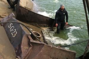 ramfulare barja pe canalul Dunare-Marea Neagra la Ovidiu - Nemo Pro Diving 015