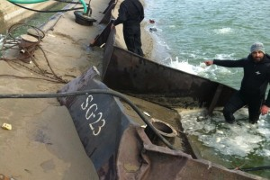 ramfulare barja pe canalul Dunare-Marea Neagra la Ovidiu - Nemo Pro Diving 016