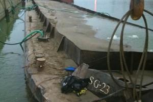 ramfulare barja pe canalul Dunare-Marea Neagra la Ovidiu - Nemo Pro Diving 017