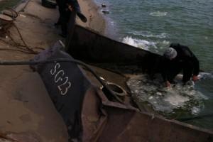 ramfulare barja pe canalul Dunare-Marea Neagra la Ovidiu - Nemo Pro Diving 019
