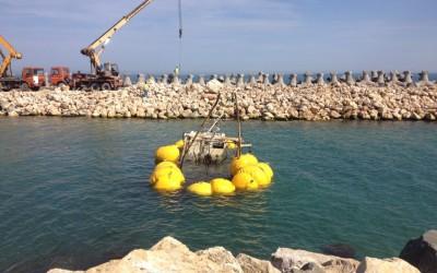 Recuperare pescador scufundat la Costinesti in 2013 realizata de Nemo Pro Diving